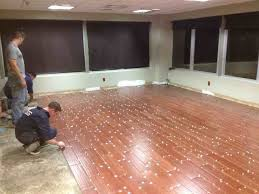 image of ceramic flooring that looks like wood project