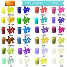Liquid Candle Dye Color Chart Candle Dye Amazon Com