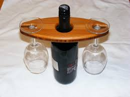 how to make a wine bottle glass holder