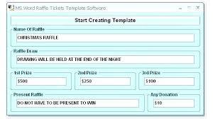 Create Tickets In Word Create Raffle Ticket Template