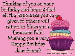 Beautiful Birthday Quotes For A Friend Best Of Happy Birthday Wishes For A Friend Pink Lover