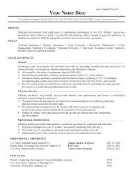 Military Resume Gorgeous Profile For Resume Military Resume Unique What Is Profile A Resume