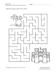 Dragon Maze: Visual Perception and Fine Motor Skills Worksheet for ...