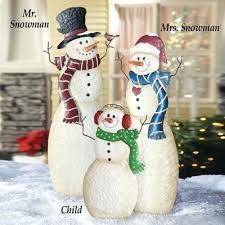 Outdoor Snowman Christmas Decorations Snowmen Garden Stakes Lighted Vine Decoration 5ft