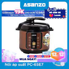 ⭐Nồi áp suất điện tử nắp rời lòng nồi tráng men cao cấp Asanzo PC-65E7 (6  lít)- Hàng chính hãng: Mua bán trực tuyến Nồi áp suất điện với giá rẻ