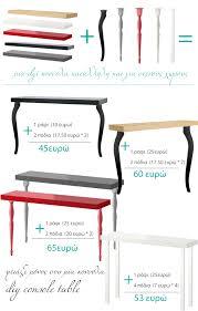 Superior Diy Console Table From IKEA (shelf + Desk Legs)