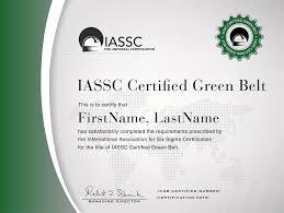 Icgb Iassc Certified Lean Six Sigma Green Belt Certification Core