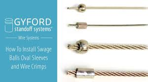 Making <b>Wire</b> Crimps, Swage Balls, Oval Sleeves Video - YouTube