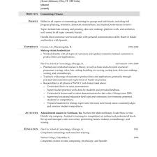 Cosmetology Resume Examples Cosmetologist Resume Examples Entry Inside Tree Trimmer Beauty 44
