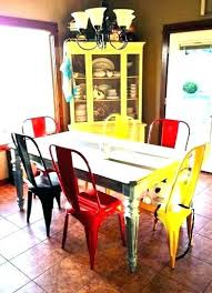 colorful dining table amazing decor chairs with vine tables multi room sets cream colored formal