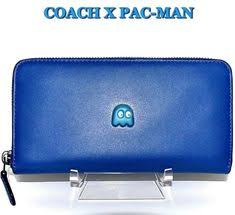 COACH PACMAN Handbag Wallet Blue Leather Accordion Zip INKY LIMITED ED NWT   275