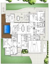 modern house plans with pool coryc me u shaped designs in middle unique courtya