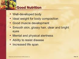 nutrition food nutrition and health  18 good nutrition