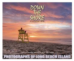 Lbi Tide Chart July 2018 Down The Shore Long Beach Island Calendar 2020 Down The