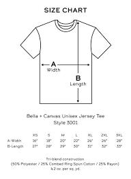 Bella Canvas T Shirt Size Chart Grad School Grind Tee