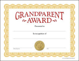Grandparent Award Certificates - Www.somethingtoremembermeby.org