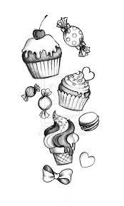 Disegno Di Dolci Disegni Nel 2019 Disegno Cupcake Tatuaggi