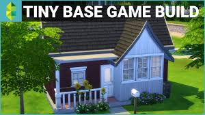 The Sims 4 House Building - Tiny Base Game $10K Budget