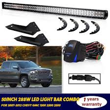 2009 Chevy Silverado Led Light Bar Details About Straight 50inch Led Light Bar Bracket Kit For 07 13 Chevy Silverado Gmc Sierra