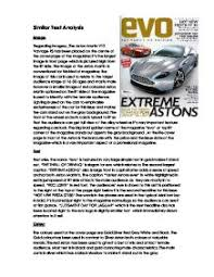 text analysis car magazine   analysing the front cover of  quot evo    page  zoom in