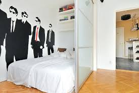 small room decor ideas for men small bedroom man wall decal modern studio apartment ideas for