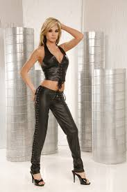 hot leather pants w lace up sides amp front clubwear black s m l