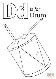 Small Picture Letter D is for Drum coloring page Free Printable Coloring Pages