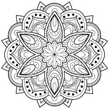 Flower Mandala Coloring Pages Vector Illustration Flower Mandala