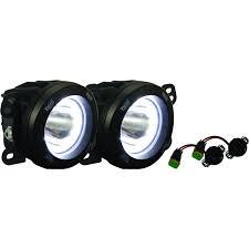 vision x lighting 07 09 jeep jk fog light upgrade kit with optimus halo 9891811