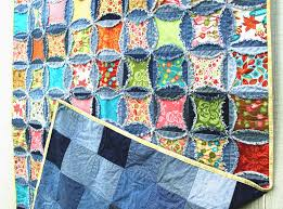 denim circle rag quilt.....similar to cathedral window.....someday ... & Denim Circle Rag Quilt-Recycled Jeans pattern on Craftsy Adamdwight.com