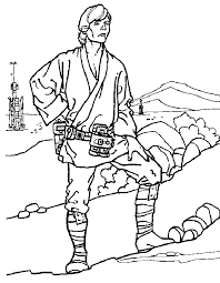Small Picture Luke skywalker coloring pages to download and print for free