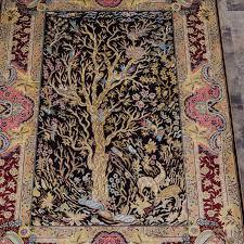 handmade persian rugs tree of life rug silk rugs 2 7 x4