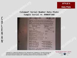 coleman hvac age building intelligence center style 4 0188123456 used prior to 1992