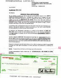 Sample Check Letter