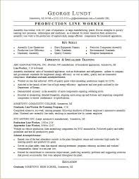 Assembly Line Worker Resume Resume Paper Ideas