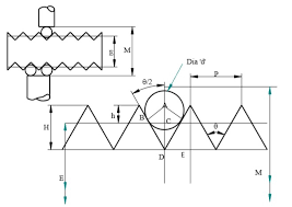 Derive An Expression For Three Wire Methods In Screw Thread