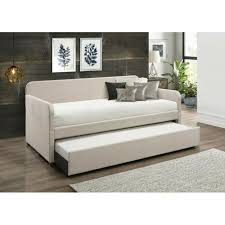 dhp sophia upholstered trundle daybed