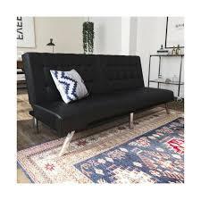 dhp dexter futon lounger black faux