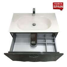 32in cher anthracite grey bathroom vanity belezza made in spain 7b80chco