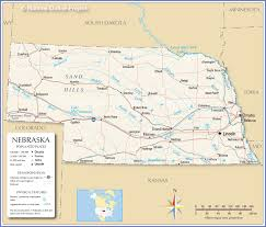 reference map of nebraska usa  nations online project