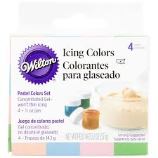 Wilton Gel Icing Color Chart Wilton 601 25588 Pastel Gel Food Coloring 5oz Bottles 4 Pack