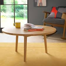 skean solid oak circular coffee table