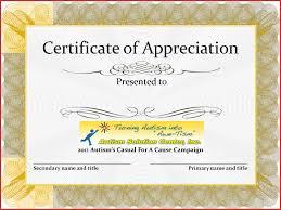 Free Editable Certificate Of Appreciation Template Zoro