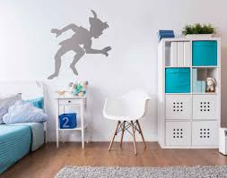 ... Peter Pan Shadow Wall Decal Peter Pan's Shadow Wall Sticker In By Vinyl  Impression ...