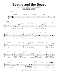 beauty and the beast sheet music beauty and the beast sheet music by celine dion peabo bryson