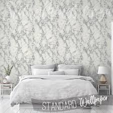 metallic silver accent marble wallpaper