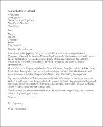 Letter Of Interest For Job Position Template Prepasaintdenis Com