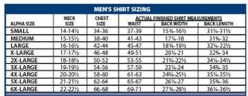 Flying Cross Size Chart Flying Cross Shirts T Shirts Design Concept