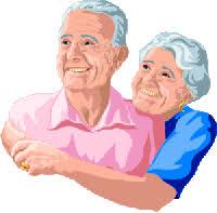 Image result for grandma and grandpa summer garden  animated