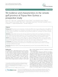 PDF) TB incidence and characteristics in the remote gulf province of Papua  New Guinea: a prospective study | Emma McBryde and Justin Denholm -  Academia.edu